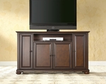 59.75''W TV Stand in Vintage Mahogany Finish with Alexandria Style Feet [KF10001AMA-FS-CRO]