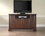 59.75''W TV Stand in Vintage Mahogany Finish with LaFayette Style Feet [KF10001BMA-FS-CRO]