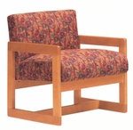 5901 Lounge Chair w/ Wood Frame,Upholstered Spring Back & Seat - Grade 1 [5901-GRADE1-ACF]
