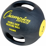 6 lbs. Double Grip Anatomic Medicine Ball in Black and Yellow [DGM6-FS-CHS]