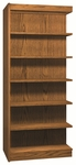 6-Shelf Double Sided Bookcase Adder [3565-A-IRO]