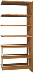 6-Shelf Double Sided Bookcase Adder [LS84DA-IRO]