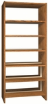 6-Shelf Double Sided Bookcase Starter [LS84DB-IRO]