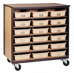 6-Shelf Tote Tray Mobile Storage [2074-O-IRO]