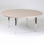 Round Blow-Molded Plastic Activity Table - 60'' Diameter [AR60-RND-23-CRL]