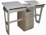 60'' Dual Station Drawing Table with Six Drawers [SA-21-HNN]
