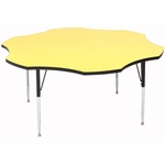 Adjustable Height Flower-Shaped Laminate Top Activity Table [A60-FLR-CRL]