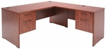 Sandia 60''W x 72''D Laminate L-Desk with Double Locking Pedestals - Cherry [SLDP603042CH-FS-REG]