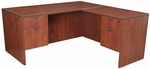 Legacy 60''W x 65''D Double Locking Pedestal Wooden L-Desk with Return - Cherry [LLD6030CH-FS-REG]
