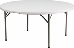 60'' Round Granite White Plastic Folding Table [DAD-YCZ-1-GW-GG]