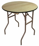 60'' Reliant Standard Series Round Folding Table with Non Marring Floor Glides - 60''W x 30''H [207000-MES]