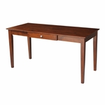 Solid Parawood 60''W X 30''H Home Office Desk With Drawer - Espresso [OF581-42-FS-WHT]