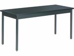 Steel-Frame Science Table with Chemsurf Laminate Top and Black Frame- 60''W x 24''D x 30''H [S246030CS-VCO]