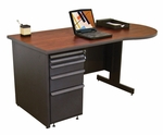 Zapf® 60'' W x 29'' H Teachers Conference Desk - Dark Neutral Finish [ZTCD6030-DT-FM-FS-MVL]