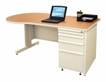 Zapf® 60'' W x 29'' H Teachers Conference Desk - Pumice Finish [ZTCD6030-UT-SO-FS-MVL]