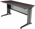 Fusion 60''W x 24''D Laminate Training Table with PVC Edge - Walnut [MFTT6024MW-REG]