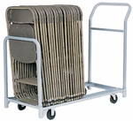 Folded or Stacked Chair Tote with Push Handle - 22''W x 51''D [600-RPC]