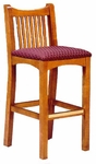 6051 Slatted Back Bar Stool - Grade 1 [6051-GRADE1-ACF]