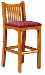 6051 Slatted Back Bar Stool - Grade 2 [6051-GRADE2-ACF]