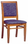 609 Stacking Chair w/ Upholstered Back & Seat - Grade 1 [609-GRADE1-ACF]