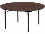 62000 Series Traditional 60'' Round Folding Table with Walnut Top and Char Black Frame [6260R-VCO]