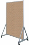 629 Series Multi-Use Double Sided Room Divider - Tan Nucork - 48''W x 78''H [629-4N-CLA]