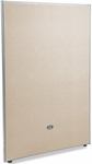 RiZe 63'' H x 37'' W Full Vinyl Floor Panel with Gray Frame - Beige Vinyl [P6337-GF-BV-MFO]