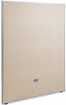 RiZe 63'' H x 48'' W Full Vinyl Floor Panel with Gray Frame - Beige Vinyl [P6348-GF-BV-MFO]