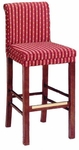 630 Bar Stool w/ Brass Trim and Upholstered Back and Seat - Grade 1 [630-GRADE1-ACF]