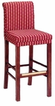630 Bar Stool w/ Brass Trim and Upholstered Back and Seat - Grade 2 [630-GRADE2-ACF]
