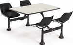 64.25'' D Cluster Table - Black Seat and Beige Nebula Laminate Top [1002-BLK-BGNB-MFO]