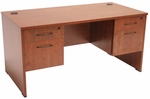 Sandia 66''W x 30''D Rectangular Laminate Desk with Double Locking Pedestals - Cherry [SDP6630CH-FS-REG]