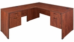 Sandia 66''W x 72''D Laminate L-Desk with Double Locking Pedestals - Cherry [SLDP663042CH-FS-REG]