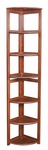 Flip Flop 67''H High Corner Folding Wooden Bookcase - Cherry [FFC6712CH-FS-REG]