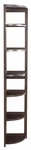 Flip Flop 67''H High Corner Folding Wooden Bookcase - Mocha Walnut [FFC6712MW-FS-REG]