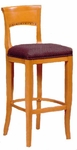 6741 Bar Stool w/ Upholstered Web Seat w/ Brass Trim on Foot Rest - Grade 1 [6741-GRADE1-ACF]