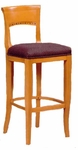 6741 Bar Stool w/ Upholstered Web Seat w/ Brass Trim on Foot Rest - Grade 2 [6741-GRADE2-ACF]