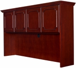 Prestige 69''W x 42''H Wooden Hutch with Solid Wood Edging - Mahogany [TVHD72MH-FS-REG]