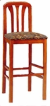6919 Bar Stool w/ Upholstered Web Seat w/ Brass Trim on Foot Rest - Grade 1 [6919-GRADE1-ACF]