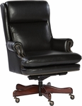 7-9252B Leather Executive Office Tilt Swivel Chair [7-9252B-FS-HKM]