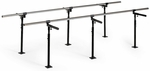 Floor Mounted Bariatric Parallel Bars - 35''W X 120''L X 29 - 42''H [HAU-1389-FS-HAUS]