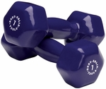 7 lb Pair Vinyl Dumbbells-Dark Purple [BSTVD7PR-FS-BODY]
