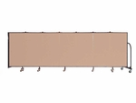 7 Panel Wall Mount Divider 12'10'' Wide [CWMX407-SCF]