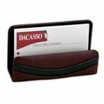 7000 Series Contemporary Leather - Burgundy Business Card Holder [A7007-FS-DAC]