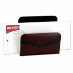 7000 Series Contemporary Leather - Burgundy Letter Holder [A7008-FS-DAC]