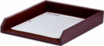 Classic Two Tone Leather Letter Front Load Tray - Burgundy and Black [A7001-FS-DAC]