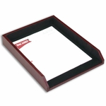 7000 Series Contemporary Leather - Burgundy Single Letter / Legal Front-Load Tray [A7001-FS-DAC]