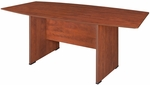 Sandia 71''W x 35''D Boat Shaped Laminate Table - Cherry [SCTBS7135CH-FS-REG]
