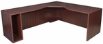 Legacy 29''H Left Angle Corner Wooden Desk with PVC Edge - Mahogany [LADSL7130MH-FS-REG]