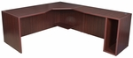 Legacy 29''H Right Angle Corner Wooden Desk with PVC Edge - Mahogany [LADSR7130MH-FS-REG]